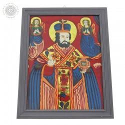 Św. Mikołaj - ikona na szkle